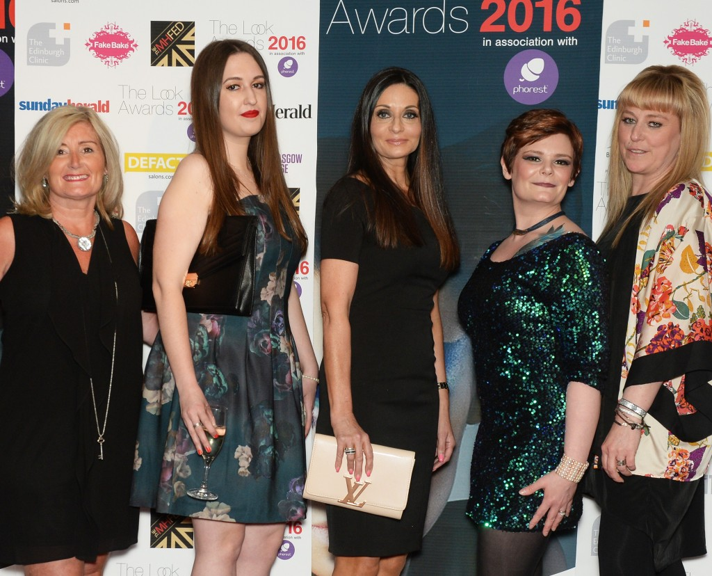 The Look Awards 2016 The 2016 Look Awards held at the Radisson Blu Hotel Glasgow, 15/5/16. Picture shows the team from Charlie Taylor (Photo by Kirsty Anderson/Herald & Times) - KA